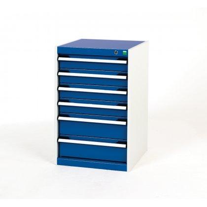 Bott Cubio Metal Drawer Cabinet - 6 Drawers (800H x 525W x 525D)