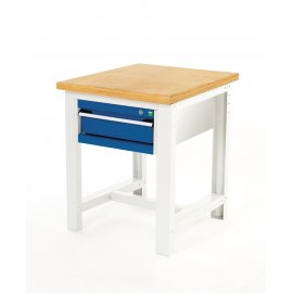 Bott Cubio Metal Basic Workstand - Lino Top & 1 Drawer  (840H x 750W x 750D)