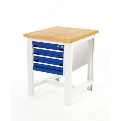 Bott Cubio Metal Basic Workstand - Lino Top & 3 Drawers  (840H x 750W x 750D)