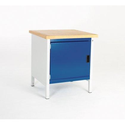 Bott Cubio Metal Storage Bench - Multiplex Top & 1 Cupboard (840H x 750W x 750D)