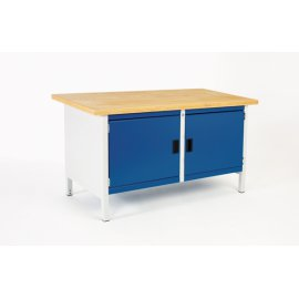 Bott Cubio Metal Storage Bench - Lino Top & 2 Cupboards (840H x 1500W x 750D)