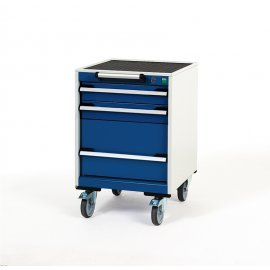 Bott Cubio Metal Mobile Drawer Cabinet - 3 Drawers (780H x 525W x 525D)