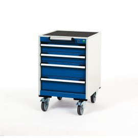 Bott Cubio Metal Mobile Drawer Cabinet - 4 Drawers (780H x 525W x 525D)