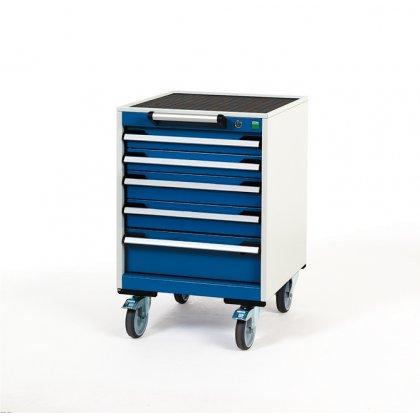 Bott Cubio Metal Mobile Drawer Cabinet - 5 Drawers (780H x 525W x 525D)