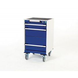 Bott Cubio Metal Mobile Drawer Cabinet - 3 Drawers (880H x 525W x 525D)