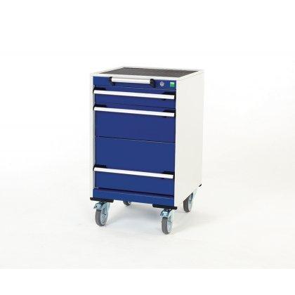 Bott Cubio Metal Mobile Drawer Cabinet - 3 Drawers (880H x 525W x 525D)