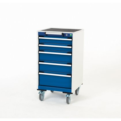 Bott Cubio Metal Mobile Drawer Cabinet - 5 Drawers (980H x 525W x 525D)