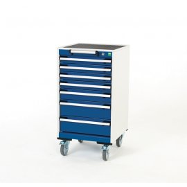 Bott Cubio Metal Mobile Drawer Cabinet - 7 Drawers (980H x 525W x 525D)