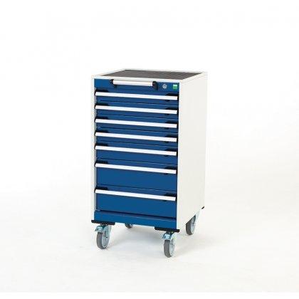 Bott Cubio Metal Mobile Drawer Cabinet - 7 Drawers (980H x 525W x 525D)