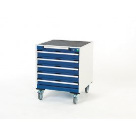 Bott Cubio Metal Mobile Drawer Cabinet - 5 Drawers (780H x 650W x 650D)