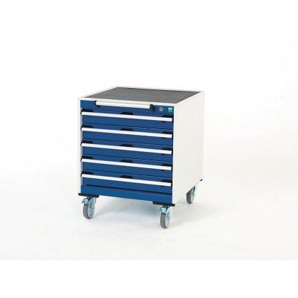 Bott Cubio Metal Mobile Drawer Cabinet - 5 Drawers (780H x 650W x 650D)
