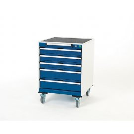 Bott Cubio Metal Mobile Drawer Cabinet - 5 Drawers (880H x 650W x 650D)
