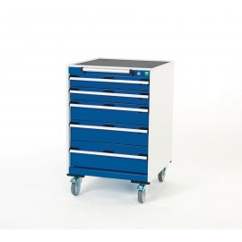 Bott Cubio Metal Mobile Drawer Cabinet - 5 Drawers (980H x 650W x 650D)