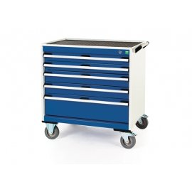 Bott Cubio Metal Mobile Drawer Cabinet - 5 Drawers (780H x 800W x 650D)