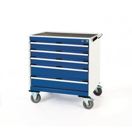 Bott Cubio Metal Mobile Drawer Cabinet - 5 Drawers (880H x 800W x 650D)