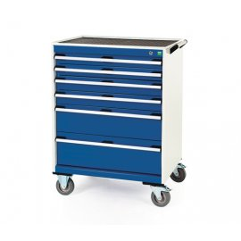 Bott Cubio Metal Mobile Drawer Cabinet - 6 Drawers (980H x 800W x 650D)