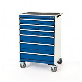 Bott Cubio Metal Mobile Drawer Cabinet - 6 Drawers (1080H x 800W x 650D)