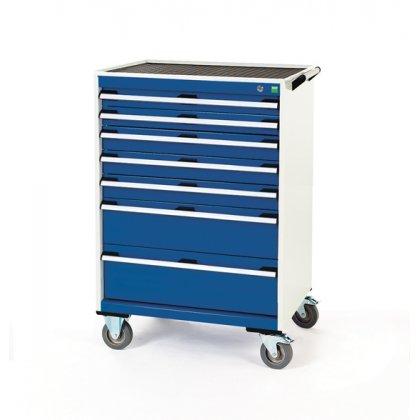 Bott Cubio Metal Mobile Drawer Cabinet - 7 Drawers (1080H x 800W x 650D)