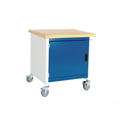 Bott Cubio Metal Mobile Storage Bench - 1 Cupboard (840H x 750W x 750D)
