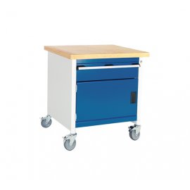 Bott Cubio Metal Mobile Storage Bench - 1 Cupboard & 1 Drawer (840H x 750W x 750D)