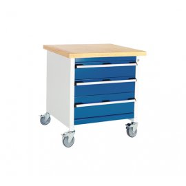 Bott Cubio Metal Mobile Storage Bench - 3 Drawers  (840H x 750W x 750D)