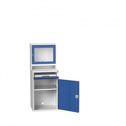 Bott Verso Tft Computer Unit & 1 Shelf & 1 Drawer with a Plain Door (1650H x 650W x 550D)