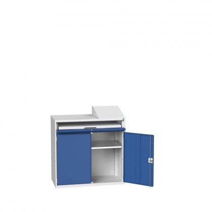 Bott Verso Flat Top Computer Unit & 1 Shelf & 1 Drawer with a Plain Door (1130H x 1050W x 550D)