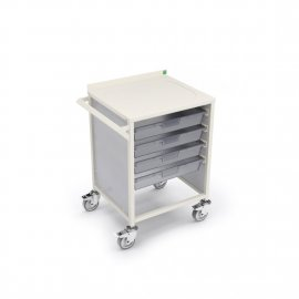 Bott Medical Storage Trolley with 4 x 80mm High Trays (606W x 510D x 800H)
