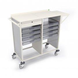 Bott Medical Station Trolley with 4 x 160mm High Trays (606W x 510D x 1100H)