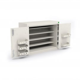 Bott Double Door Drug Cabinet - 6 Shelves & 8 Door Trays (1000W x 300D x 900H)
