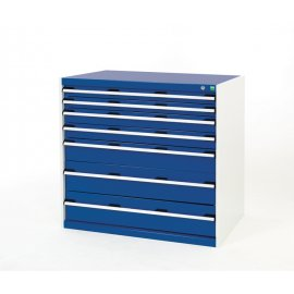 Bott Cubio Metal Drawer Cabinet - 7 Drawers (1000H x 1050W x 750D)