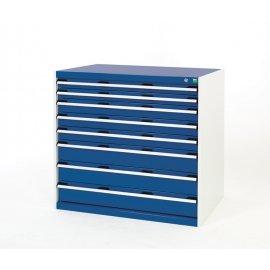 Bott Cubio Metal Drawer Cabinet - 8 Drawers (1000H x 1050W x 650D)