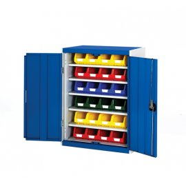 Bott Cubio Metal Storage Cupboard - With Bins (1000H x 800W x 325D)