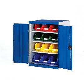 Bott Cubio Metal Storage Cupboard - With Bins (1000H x 800W x 525D)