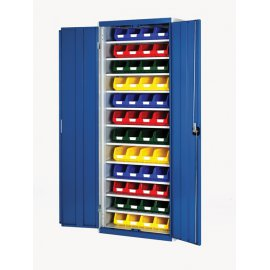 Bott Cubio Metal Storage Cupboard - With Bins (2000H x 800W x 325D)