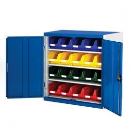 Bott Cubio Metal Storage Cupboard - With Bins (1000H x 1050W x 525D)