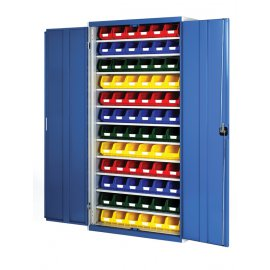 Bott Cubio Metal Storage Cupboard - With Bins (1000H x 1050W x 325D)