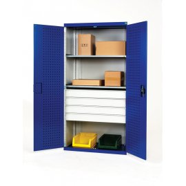 Bott Cubio Metal Heavy Duty Cupboard - 2 Shelves & 4 Drawers (2000H x 1300W x 650D)