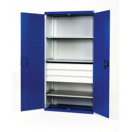 Bott Cubio Metal Heavy Duty Cupboard - 3 Shelves & 3 Drawers (2000H x 1050W x 650D)