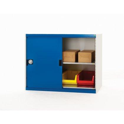 Bott Cubio Metal Sliding Door Cupboard - 2 Shelves (800H x 1050W x 525D)