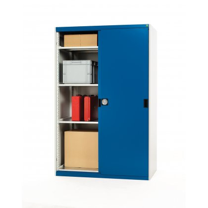 Bott Cubio Metal Sliding Door Cupboard - 3 Shelves (1600H x 1300W x 525D)