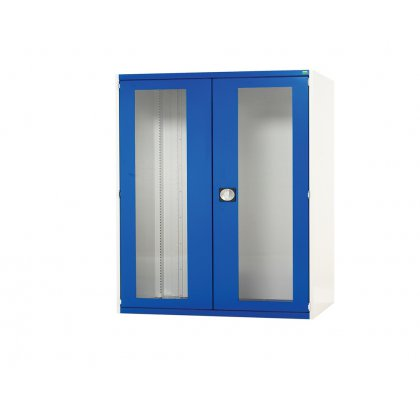 Bott Cubio Metal Window Door Cupboard - 3 Shelves (1200H x 1050W x 525D)