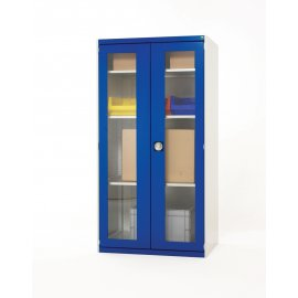 Bott Cubio Metal Window Door Cupboard - 4 Shelves (2000H x 1050W x 525D)