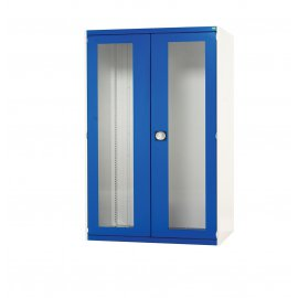 Bott Cubio Metal Window Door Cupboard - 3 Shelves (1600H x 1300W x 525D)