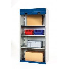 Bott Cubio Metal Roller Shutter Cupboard - 3 Shelves (1200H x 1050W x 650D)