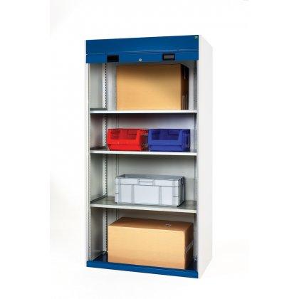 Bott Cubio Metal Roller Shutter Cupboard - 4 Shelves (2000H x 1300W x 650D)