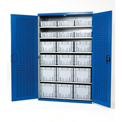 Bott Cubio Metal High Volume Cupboard - With Eurocontainers (2000H x 1300W x 650D)