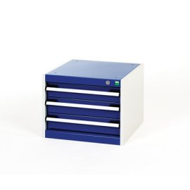 Bott Cubio Metal Drawer Cabinet - 3 Drawers (400H x 525W x 650D)