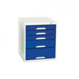 Bott Verso Underbench Drawer Unit - 5 Drawers (600H x 500W x 550D)