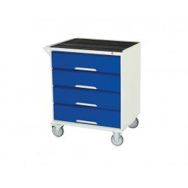 Bott Verso Metal Mobile Cabinet - 4 Drawers, Top Tray & Mat (925H x 750W x 550D)